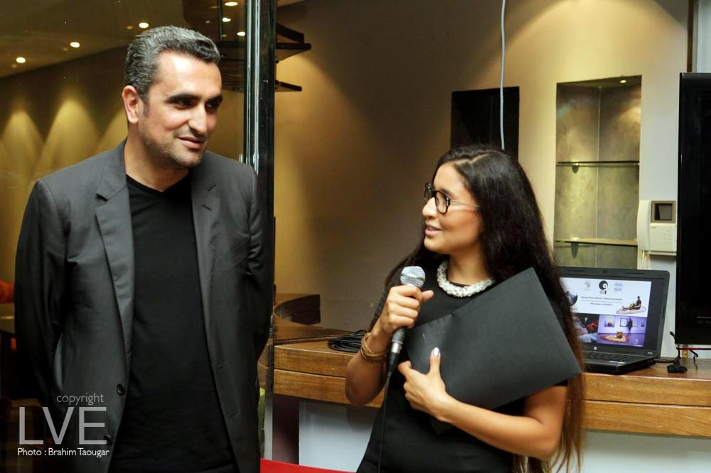 Hicham Lahlou et La gagnante Wissal Amaddah