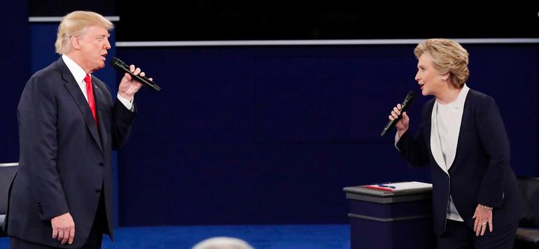 Présidentielle: Hillary Clinton compte une large avance sur Donald Trump