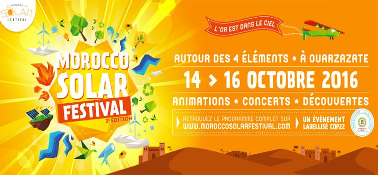 Ouarzazate : Et de 3 pour le Morocco Solar Festival
