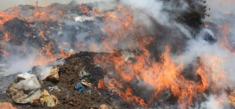 Destruction de drogue à Médiouna