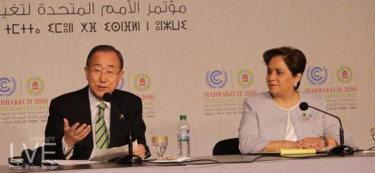 """COP22 : Ban ki-Moon exprime sa """"profonde admiration"""" à l'égard de Sa Majesté le Roi et du peuple marocain"""
