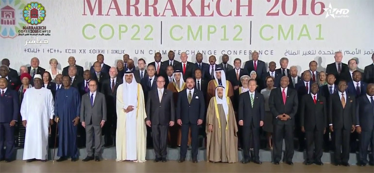 COP22 : La photo de famille de Sa Majesté le Roi Mohammed VI avec les chefs d'État