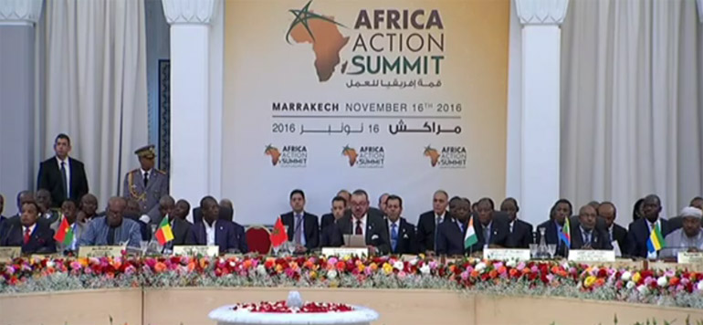COP22 : le discours de SM le Roi au «Sommet africain de l'action»