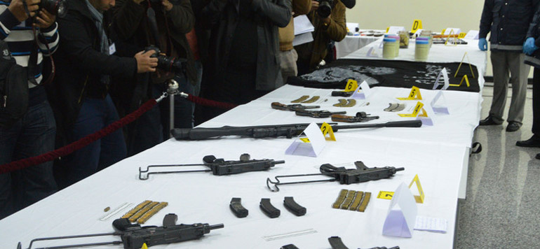 Vidéo : Les armes saisies lors de l'opération antiterroriste menée par la BCIJ