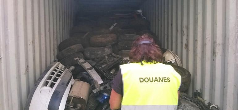 France : Saisie de 15 tonnes de déchets automobiles destinés à être exportés au Maroc