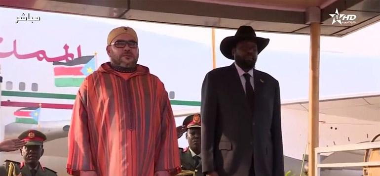 Vidéo : Arrivée de SM le Roi à Juba en République du Soudan du Sud