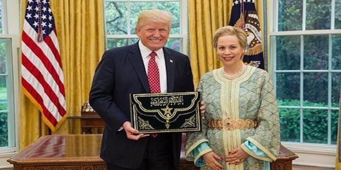 Lalla Joumala reçue par le Président Trump
