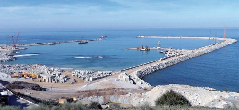 Nouveau port de Safi : 75% des travaux réalisés