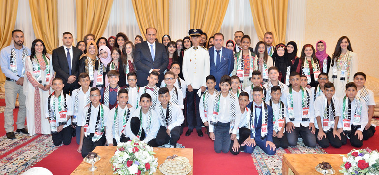 Vidéo : Le prince Moulay El Hassan reçoit des enfants palestiniens