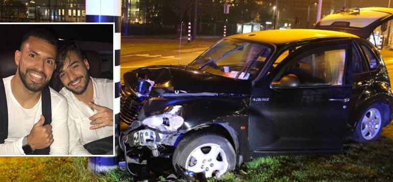 Agüero blessé dans un accident de voiture