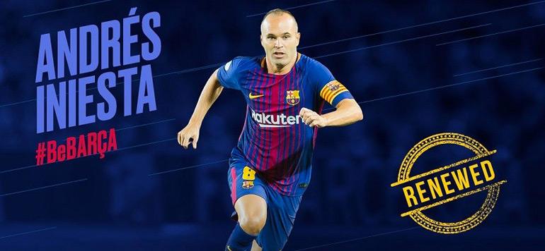 Andrés Iniesta prolonge «à vie» au FC Barcelone