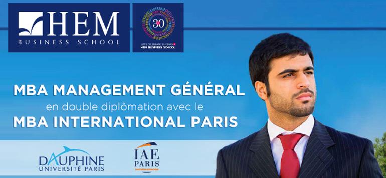 HEM lance les inscriptions de son MBA Management Général