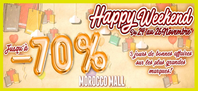 Shopping : Le Morocco Mall lance son « Happy Friday »