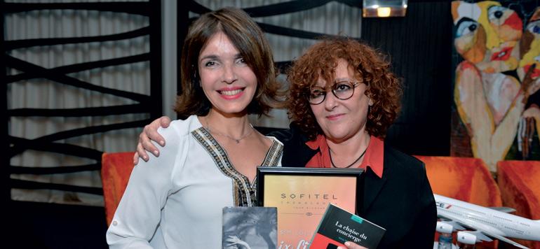 Bahaa Trabelsi et Yasmine Chami au café littéraire du Sofitel Baltimore
