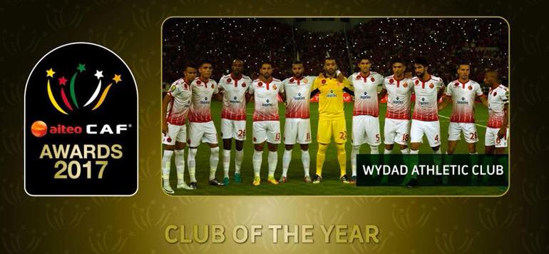 CAF Awards : le WAC sacré meilleur club africain 2017