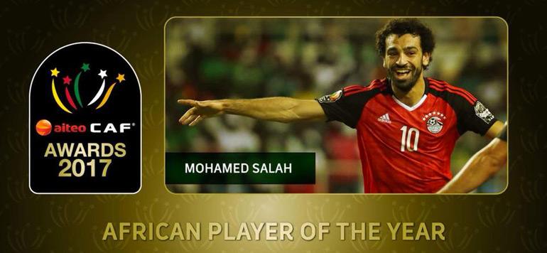 CAF Awards 2017: l'Egyptien Mohamed Salah élu meilleur joueur africain de l'année