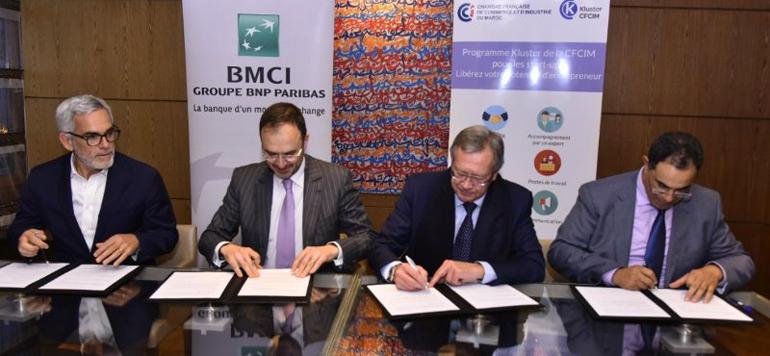 Le Kluster CFCIM et BMCI planchent sur l'incubation de start-up