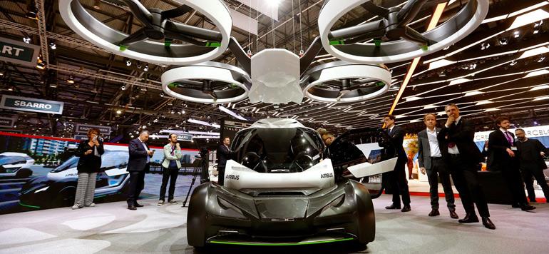 Vidéo : Une voiture volante dévoilée au salon de l'automobile de Genève