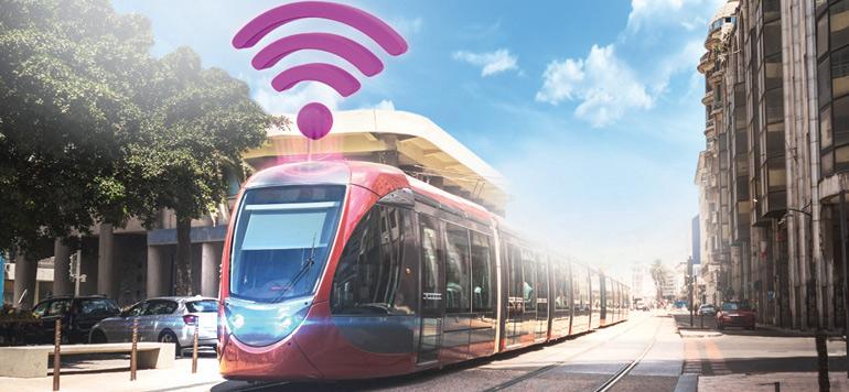 Inwi introduit le wifi à bord du tramway de Casablanca