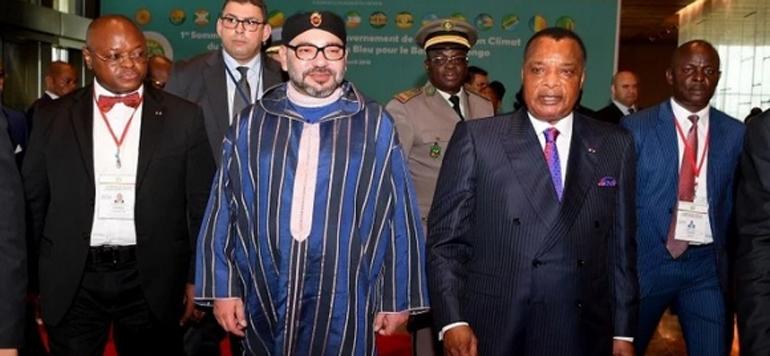 Sa Majesté préside la cérémonie de signature de 14 accords avec le Congo