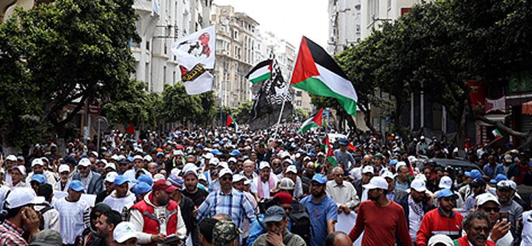 Marche populaire : les Casaouis solidaires avec le peuple palestinien