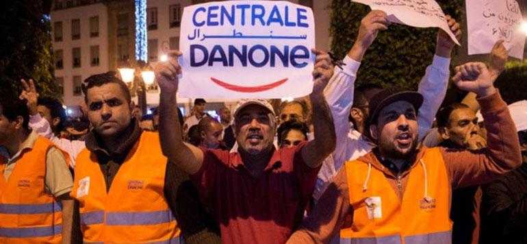 Boycott : Les salariés de Centrale Danone manifestent pour leurs emplois