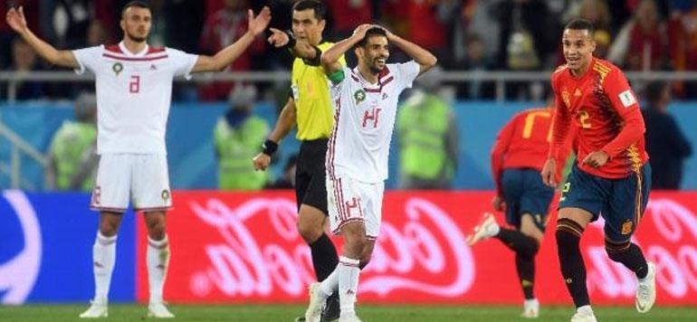 Selon les textes de loi de la FIFA, le but espagnol n'est pas valable
