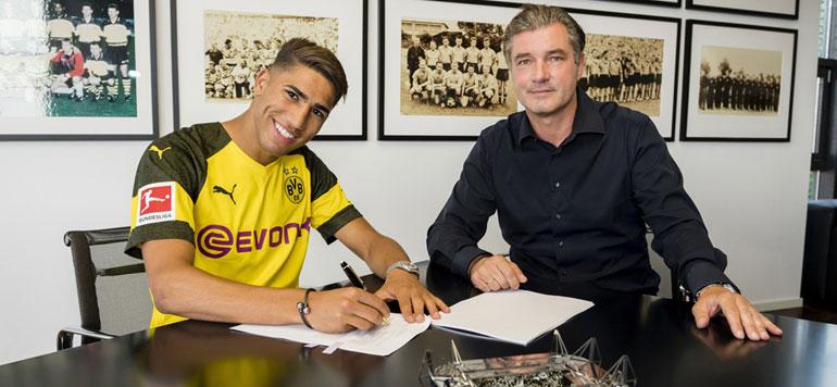Hakimi rejoint le Borussia Dortmund