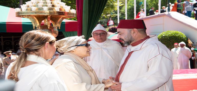 Vidéo : Aicha El Khattabi et Gianni Infantino au palais Marchane