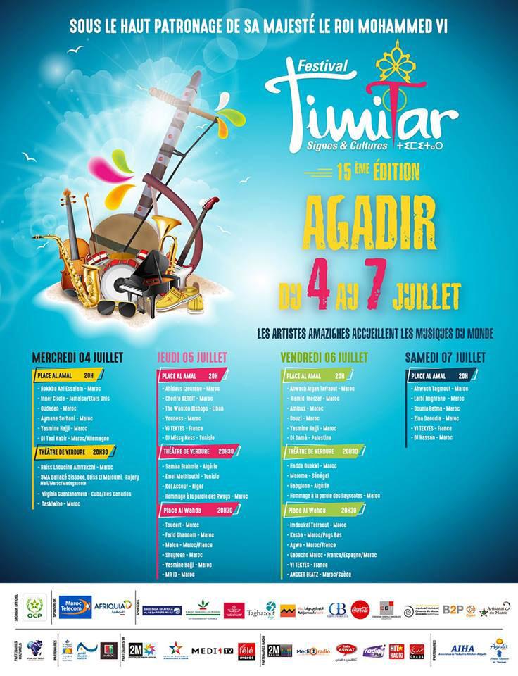 Programme Timitar 2018