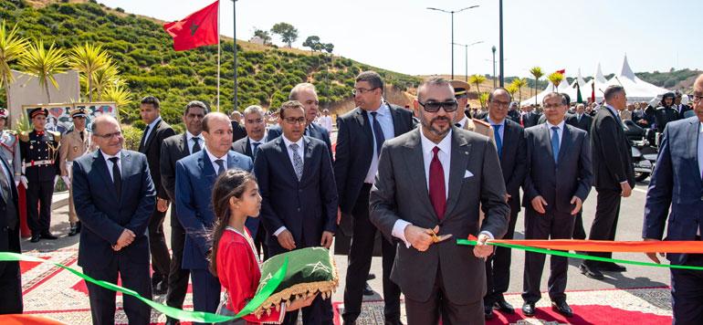 Sa Majesté Inaugure la rocade urbaine n°2 de Rabat-Salé