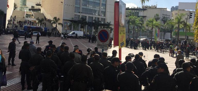 En Vidéo. Manifestation des enseignants contractuels à Casablanca