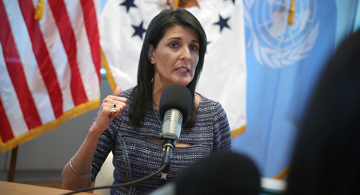 Nikki Haley, ambassadrice américaine à l'ONU démissionne