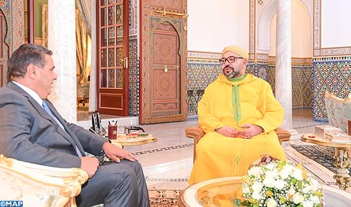 SM le Roi reçoit Aziz Akhannouch