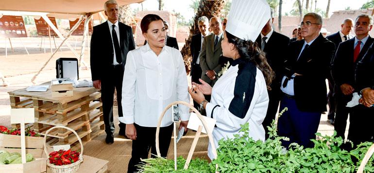 Palmeraie de Marrakech : la Princesse Lalla Hasnaa visite deux projets représentatifs du programme de sauvegarde