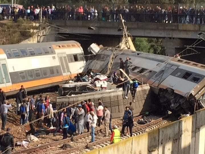 En vidéos, l'accident du train à Bouknadel