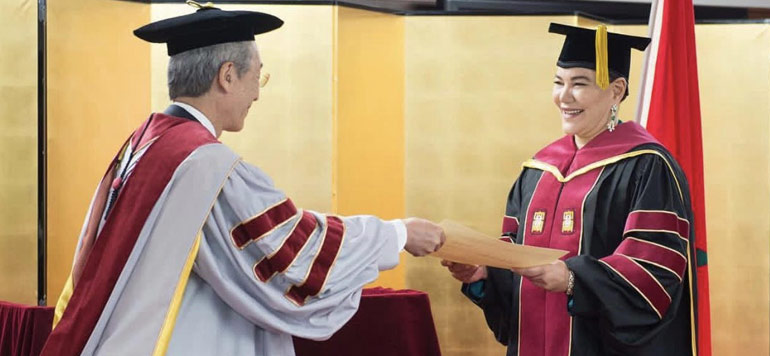 SAR Lalla Hasnaa reçoit au Japon le titre de Docteur honoris causa de l'Université Ritsumeikan