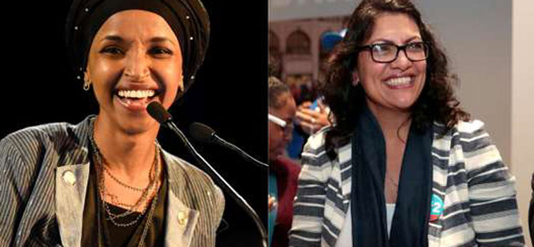 Rachida Tlaib et Ilhan Omar, premières élues musulmanes au Congrès américain