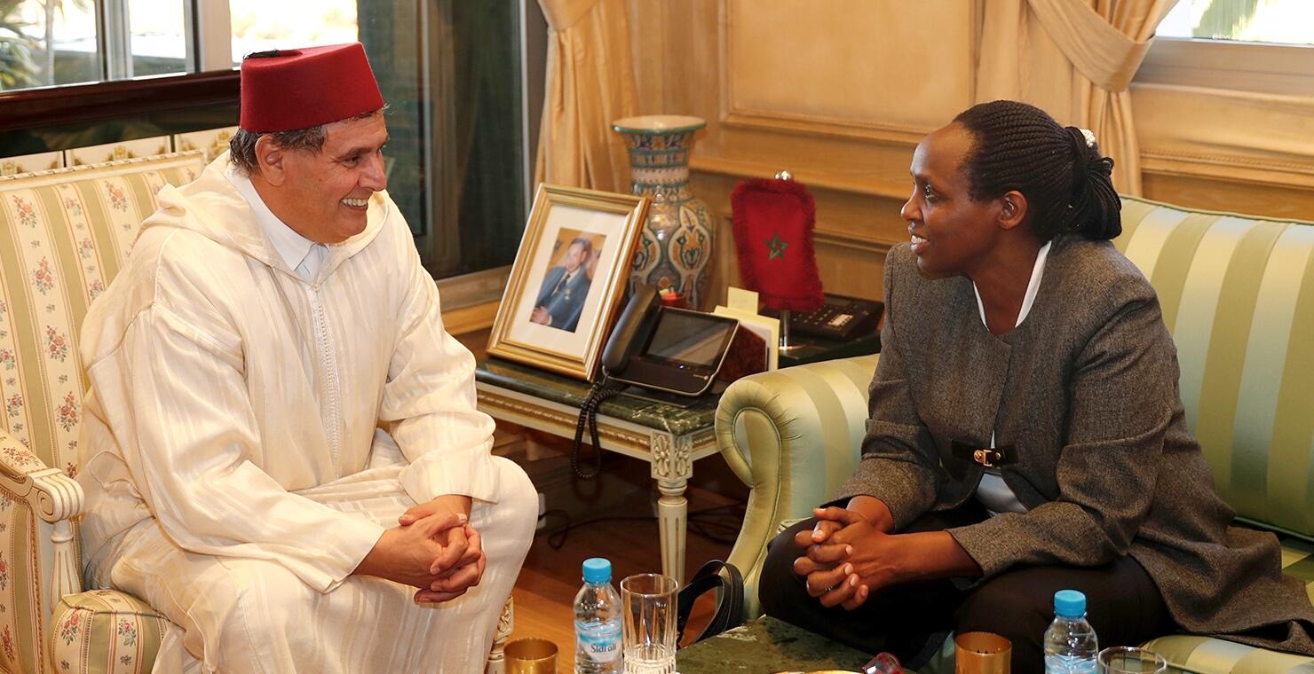 Akhannouch reçoit la présidente de l'Alliance pour une révolution verte en Afrique