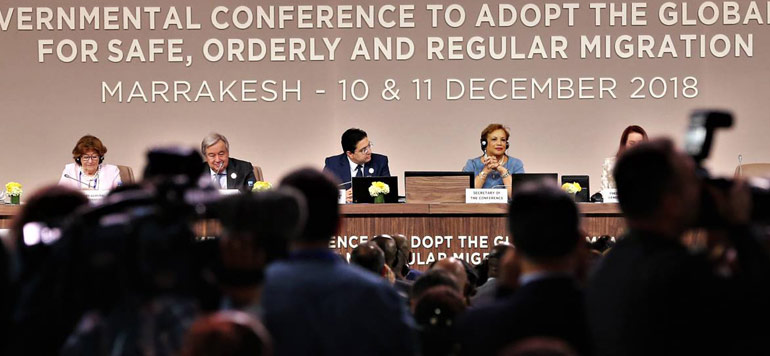 Texte intégral du message Royal adressé à la Conférence Intergouvernementale sur la migration