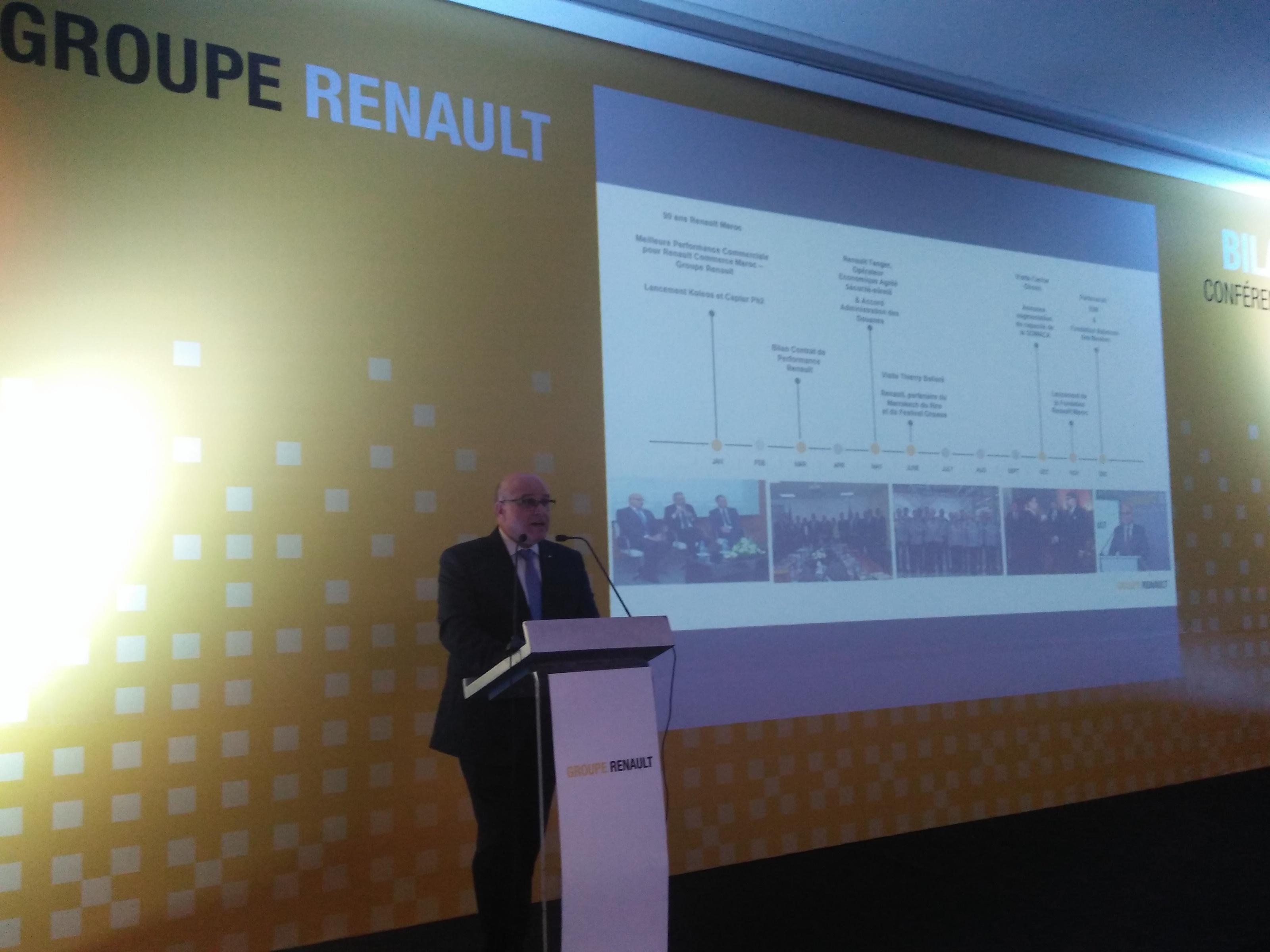 Renault Maroc commente sa performance exceptionnelle en 2018