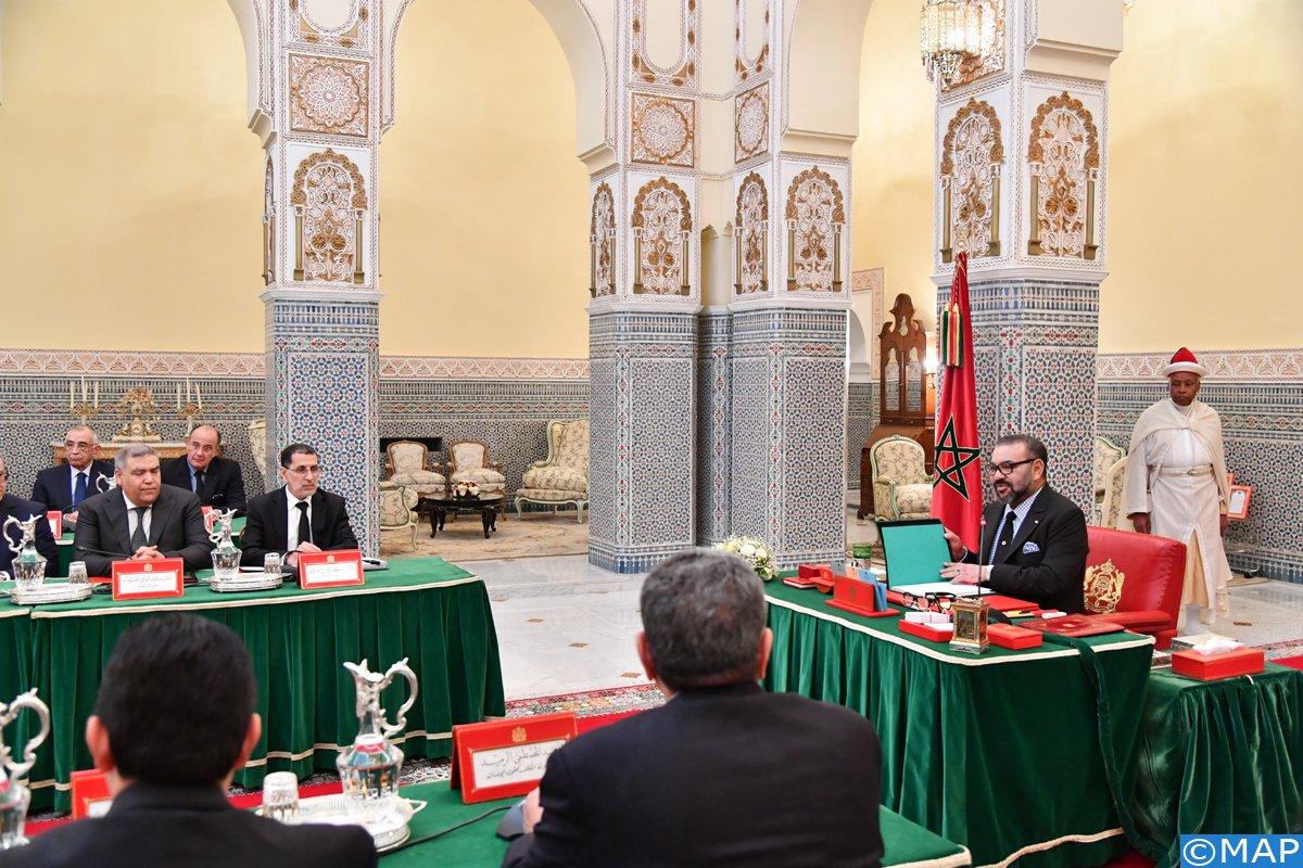 Sa Majesté préside à Marrakech un Conseil des ministres
