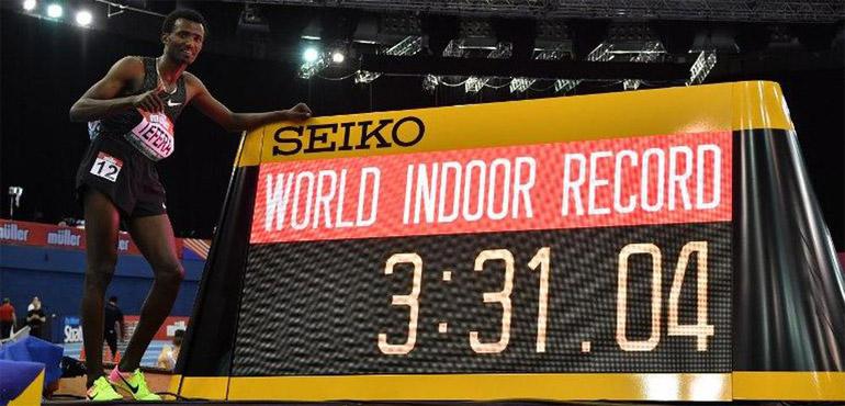 Hicham El Guerrouj n'est plus détenteur du record du monde du 1 500m en salle