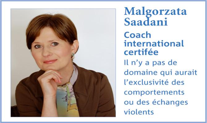 violence verbale au travail : Le point de vue de Malgorzata Saadani, coach international certifiée ICC