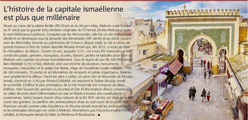 MEKNESL'histoire de la capitale ismaélienne est plus que millénaire