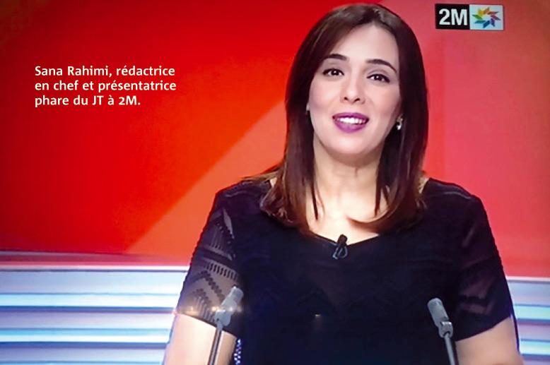 Sana Rahimi, rédactrice en chef et présentatrice phare du JT à 2M.
