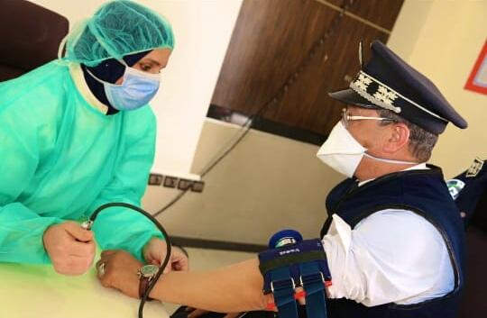 Opération don de sang chez la police