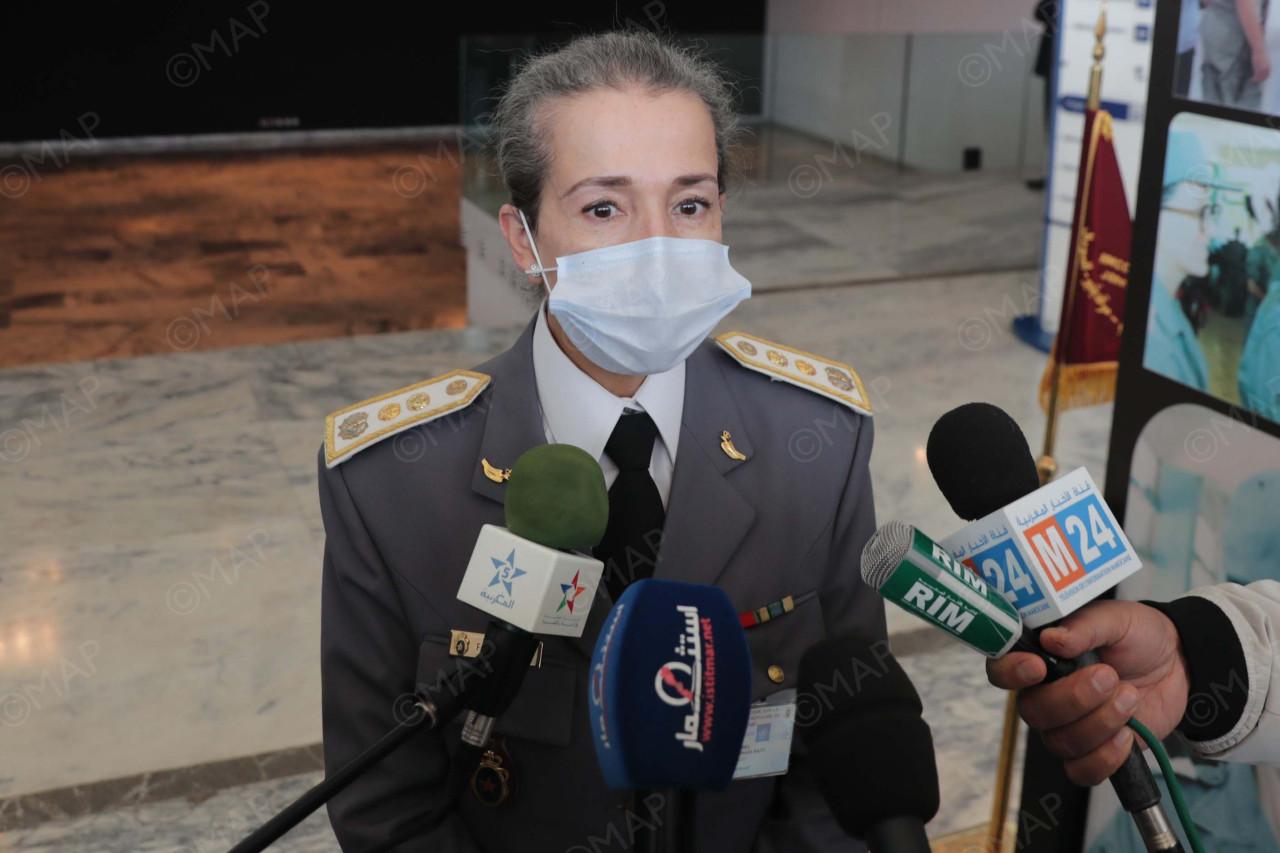 colonel Fadoua Bennani, de la direction générale des services sociaux des FAR en charge des opérations de maintien de la paix.